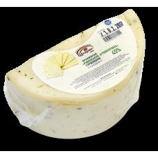 Напівтвердий сир«Рівненський. Агропереробка» 45% з прянощами